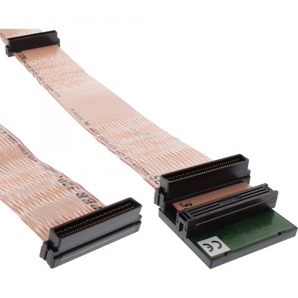 InLine® SCSI U320 Flachbandkabel, 68pol, für 4 Geräte, mit Terminator, 1,33m