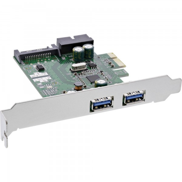 InLine® Schnittstellenkarte, 4x USB 3.0, (2+2) PCIe, inkl. Low-Profile Slotblech