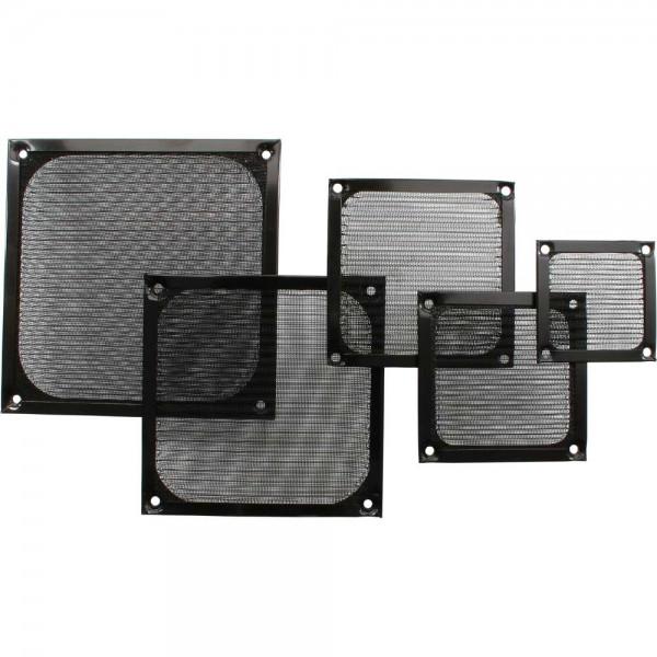 InLine® Lüftergitter, Aluminium Filter, 140x140mm, schwarz