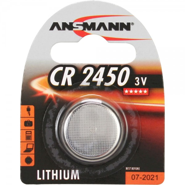ANSMANN 5020112 Knopfzelle CR2450 3V Lithium