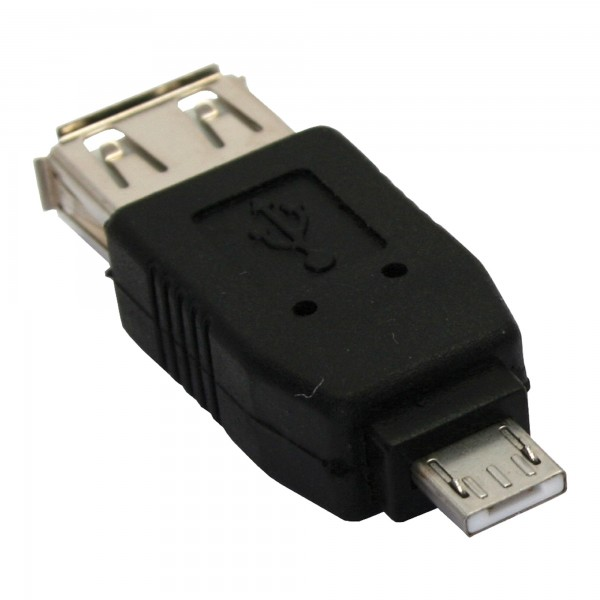 InLine® Micro-USB Adapter, Micro-A Stecker an USB A Buchse