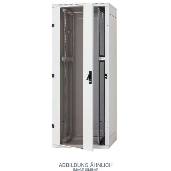 "Triton RZA-42-A81-CAX-A1-MAA 19"" Netzwerkschrank 42HE, 800x1000mm, Glastür, grau"