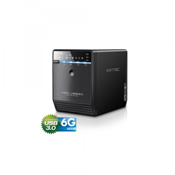 "FANTEC QB-35US3-6G, 4x 3.5"" HDD Gehäuse, USB 3.0, schwarz"