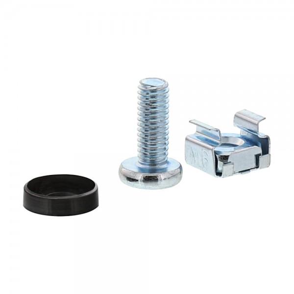 InLine® Käfigmutternset M6, je 50x Käfigmuttern, Unterlegscheiben, Schrauben