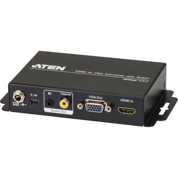 ATEN VC812 Video-Konverter HDMI zu VGA mit Skalierfunktion bis FullHD 1080p