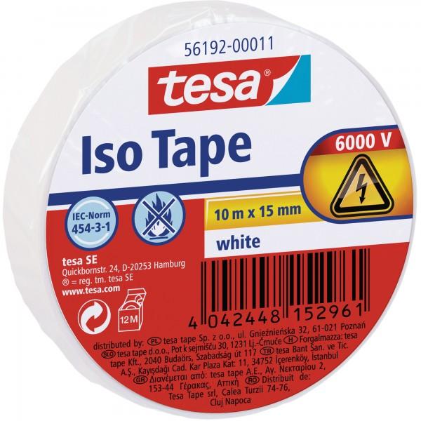 tesa Isolierklebeband, 10m x 15mm, weiß