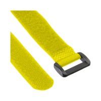 InLine® Klettschlaufen 20x300mm, 10er, gelb