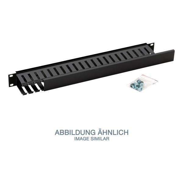 """Triton RAB-VP-X02-A1 19"""" Kunststoffkabelkanal 1HE, einseitig, schwarz"""