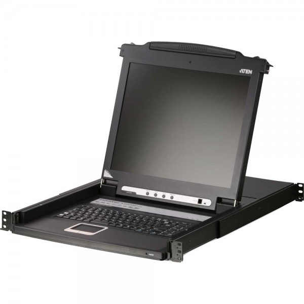 "ATEN CL1008M KVM-Switch, 17"" LCD, 8-fach, DE-Layout"