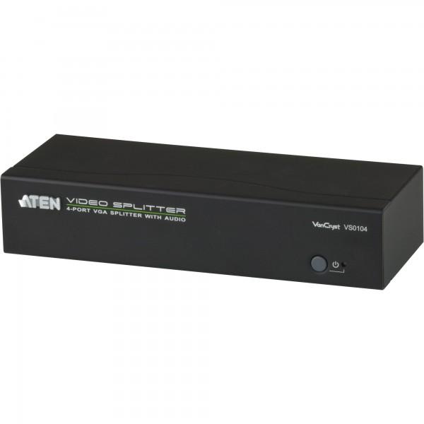 ATEN VS0104 Video-Splitter VGA/Audio 4-Port-Verteiler 450 MHz