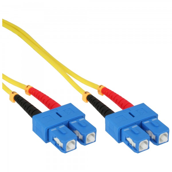 InLine® LWL Duplex Kabel, SC/SC, 9/125µm, OS2, 10m