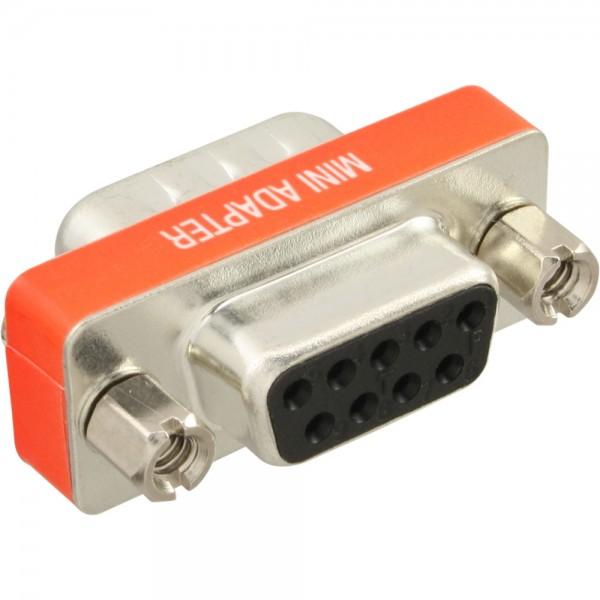 InLine® Nullmodemadapter, 9pol Stecker / Buchse, bulk