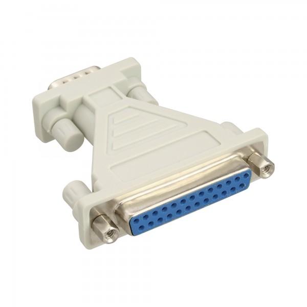 InLine® AT-Adapter, 25pol Sub D Buchse an 9pol Sub D Stecker