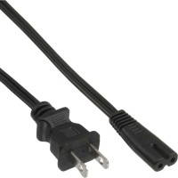 InLine® Netzkabel, Netzstecker USA auf Euro 8 C7 Stecker, 1,8m