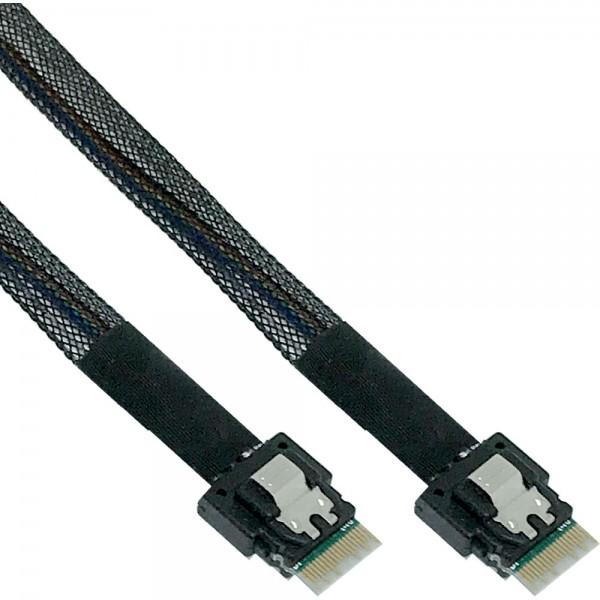 InLine® Slim SAS Kabel, SFF-8654 zu SFF-8654, 24Gb/s, 0,5m