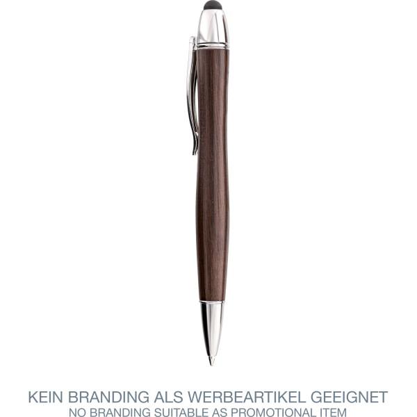InLine® woodpen, Stylus-Stift für Touchscreens + Kugelschreiber, Walnuss/Metall