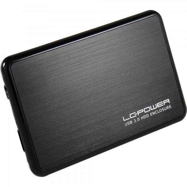 "LC-Power LC-25BUB3, externes 2,5""-SATA-Gehäuse, USB 3.0, alu/schwarz"