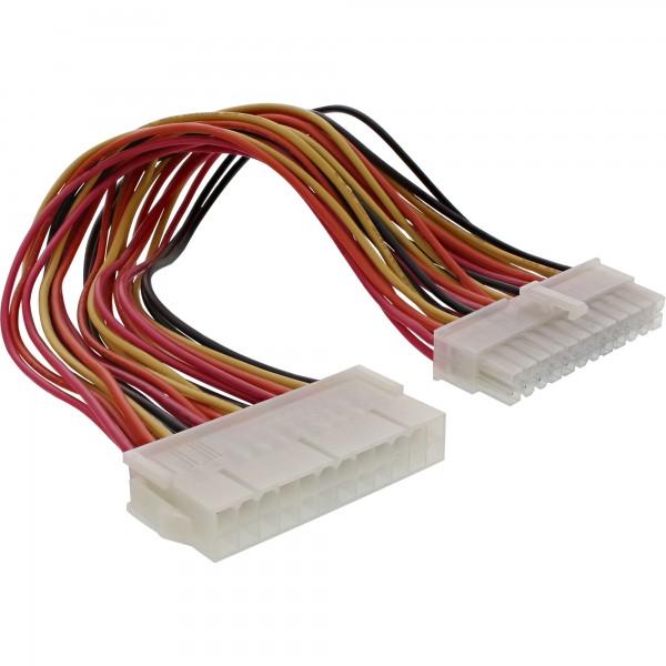 InLine® Strom Verlängerung intern, 24pol ATX Stecker / Buchse, Netzteil zu Mainboard, 0,45m