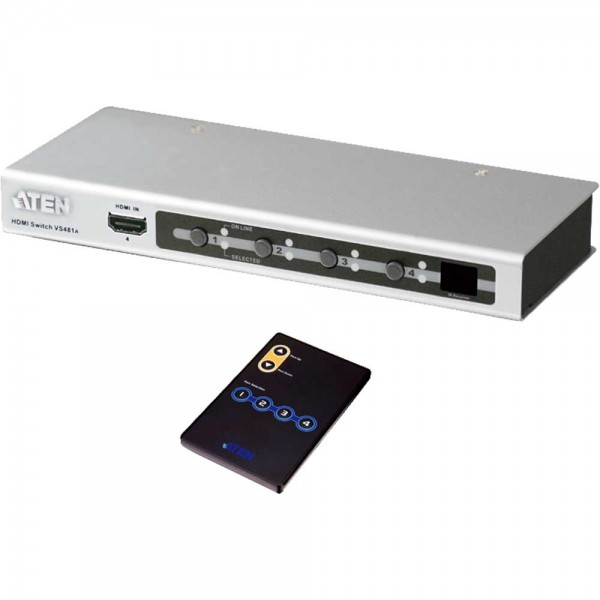 ATEN VS481A Video-Switch HDMI 4-fach Umschalter, FullHD, mit Audio