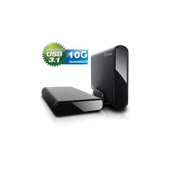 "FANTEC DB-ALU31, externes 3,5""-SATA-Gehäuse, USB 3.1, schwarz"