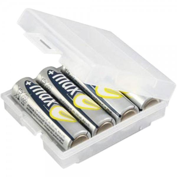 ANSMANN 4000740 Batteriebox AKKU-BOX 4, für max. 4 Zellen AA oder AAA