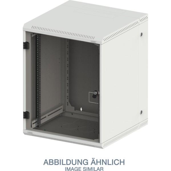 """Triton RBA-12-AD6-CAX-A1 19"""" Wandschrank 12HE, 600x615mm, zweiteilig, grau"""
