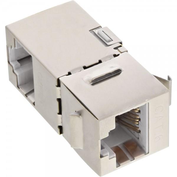InLine® RJ45 Buchse / Buchse Einsatz gewinkelt 90°, SNAP-In, Cat.6 STP