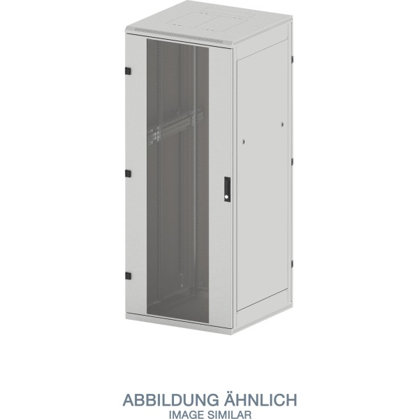 "Triton RMA-42-A81-CAX-A1 19"" Netzwerkschrank 42HE, 800x1000mm, Glastür, grau"