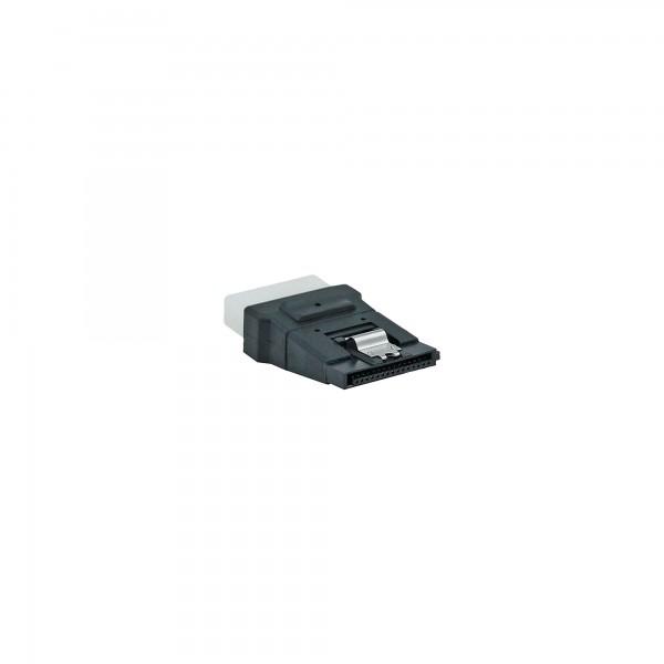 """InLine® SATA Stromadapter, 1x 13,34cm (5,25"""") Buchse an 15pol SATA Stecker mit Lasche"""