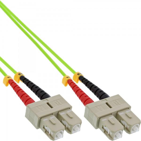 InLine® LWL Duplex Kabel, SC/SC, 50/125µm, OM5, 15m
