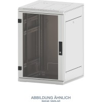 "Triton RMA-15-A89-CAX-A1 19"" Netzwerkschrank 15HE, 800x900mm, Glastür, grau"