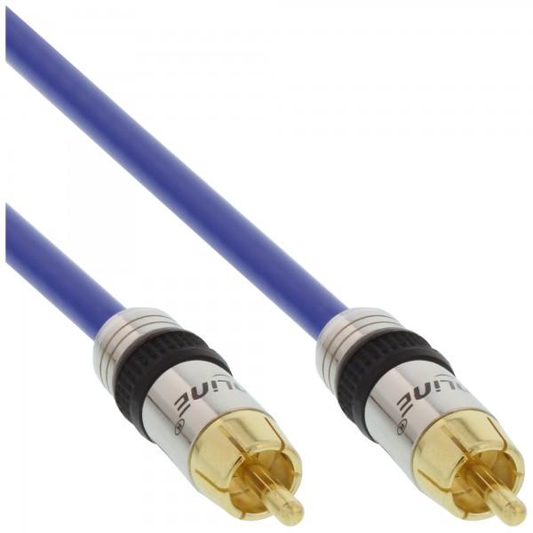 InLine® Cinch Kabel AUDIO, PREMIUM, vergoldete Stecker, 1x Cinch Stecker / Stecker, 3m