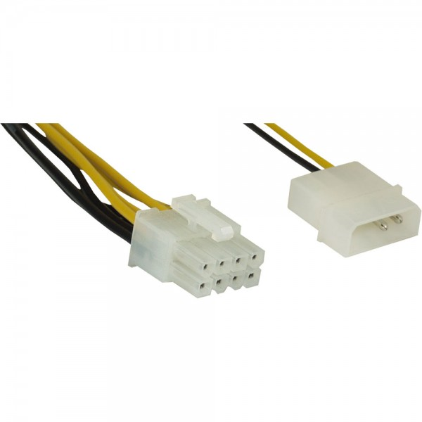 InLine® Stromadapter, 4pol zu 8pol, Netzteil zu Mainboard, 0,45m