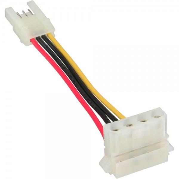 """InLine® Stromadapter, 8,89cm (3,5"""") Buchse zu 13,34cm (5,25"""") Stecker gewinkelt, 6cm"""
