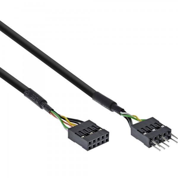 InLine® Audiokabel Verlängerung intern, für HD audio und AC97, 40cm