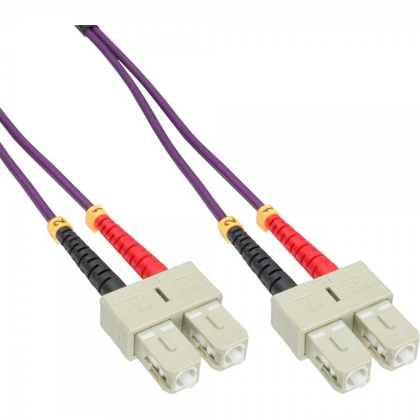 InLine® LWL Duplex Kabel, SC/SC, 50/125µm, OM4, 1m