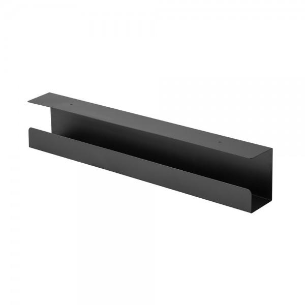 InLine® Kabelführungssystem für Untertisch-Montage, schwarz