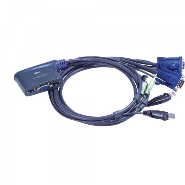 ATEN CS62US KVM-Switch 2-fach, USB, mit Audio