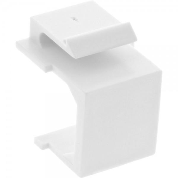 InLine® Keystone SNAP-In Blindabdeckung für Modul Steckplatz, weiß, 10er Pack