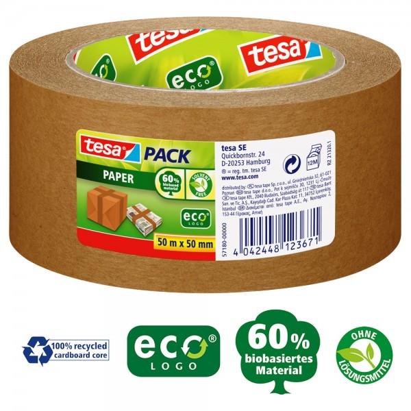 tesapack paper ecoLogo, 50m x 50mm