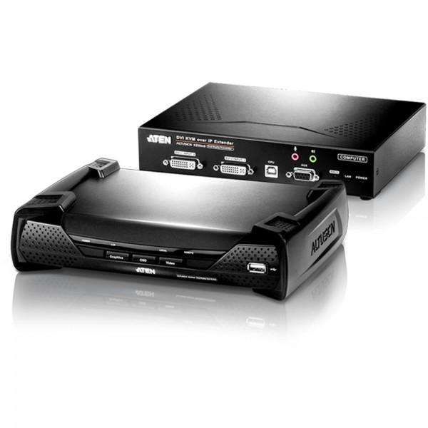 ATEN KE6940 KVM-Over-IP-Extender, DVI-I, RS232, USB, Audio, Doppelkonsole