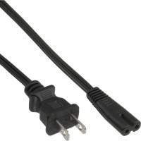 InLine® Netzkabel, Netzstecker USA auf Euro 8 C7 Stecker, 1,0m