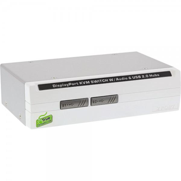 InLine® KVM Desktop Switch, 2-fach, DisplayPort 1.2, 4K, USB 2.0, Audio