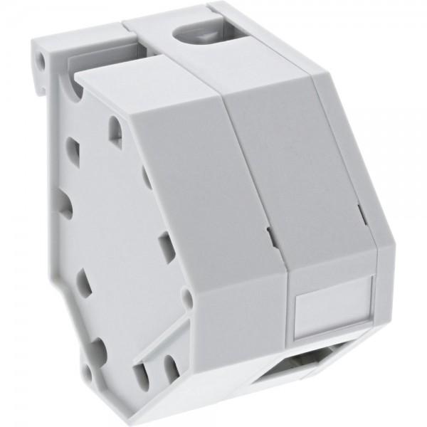 InLine® Keystone SNAP-In LWL Keystone Modulhalter, 1-fach für Hutschiene