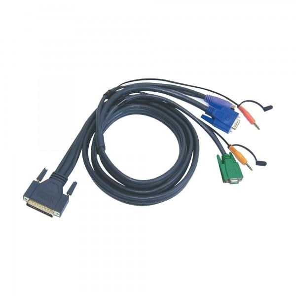 ATEN 2L-1701P KVM Kabelsatz, VGA, PS/2, Audio, Länge 1,8m