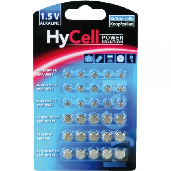 ANSMANN 5015473 Knopfzellen-Set HyCell Alkaline, 30-teilig