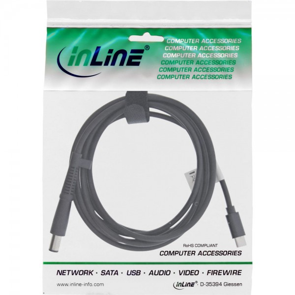 InLine® USB Typ-C zu HP Notebook (rund/groß) Ladekabel, 2m
