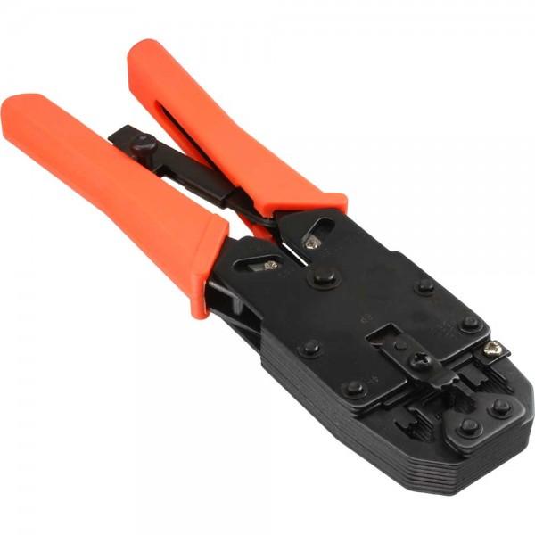 InLine® Modular Crimpzange, für RJ10,11,12,45 und DEC (DSL-Splitter) Stecker