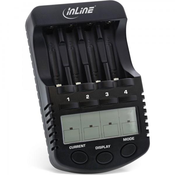 InLine® Premium Schnell-Ladegerät, NiCd+NiMH AA und AAA