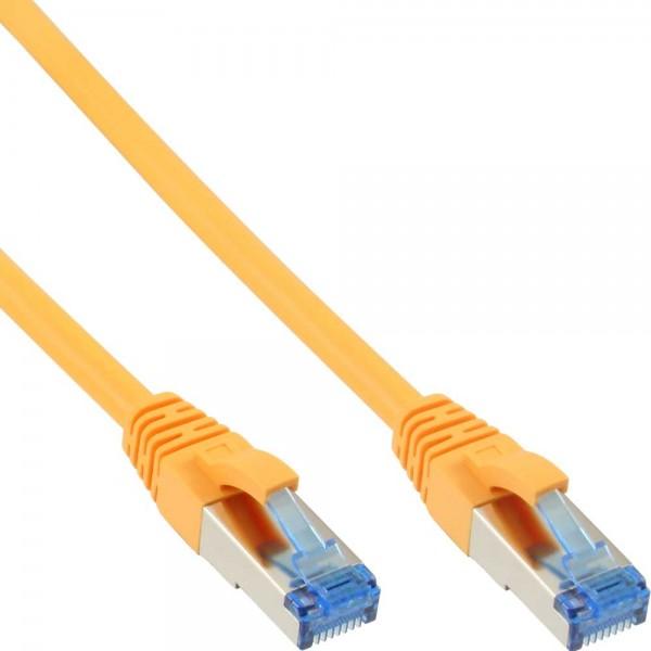 InLine® Patchkabel, S/FTP (PiMf), Cat.6A, 500MHz, halogenfrei, Kupfer, gelb, 20m